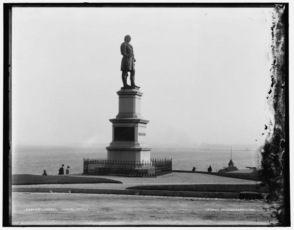 Statue of Solomon Juneau in MKE