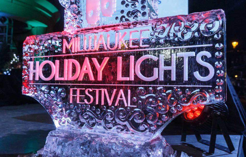 Milwaukee Holiday of Lights Festival ice sculpture