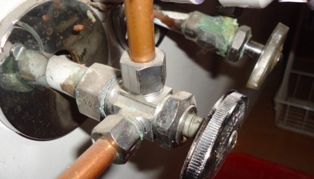 pipe under kitchen sink