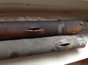 burst pipes